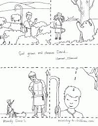 Exercise David And Goliath Free Coloring Sheet And Lesson Plan