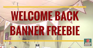 Back To School Welcome Banner Freebie For You