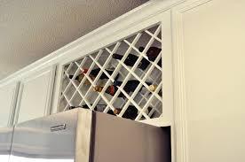 Lattice Wine Rack Kitchen Cabinet Designs Ideas