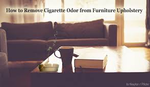 how to remove cigarette odors from