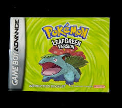 GAMEBOY ADVANCE GAME MANUAL: POKEMON LEAF GREEN Version Instruction Booklet    Gameboy advance, Pokemon, Booklet