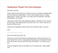 Sample Graduation Thank You Letter Resume Template Sample