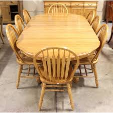 oak dining room sets. Honey Oak Dining Table W/8 Chairs Room Sets A