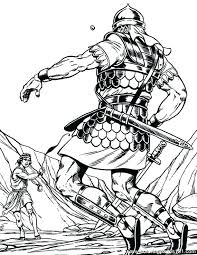 And Drawing At Free For Personal Use And David Vs Goliath Coloring Pages