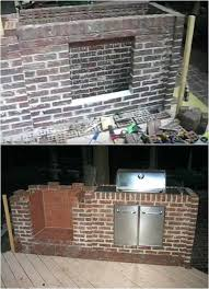 laying brick for outdoor fireplace how to build an building and installing grill your own with build your own brick outdoor fireplace