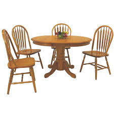 36 round oak dining set