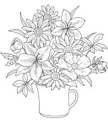 Free Adult Coloring Pages Flowers At Getdrawingscom Free For