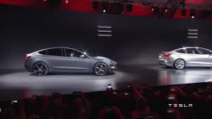 Tesla To Unveil The Model It S Mile Range Sedan On