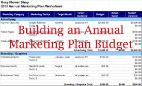 Marketing Budget Plan How To Use Expense Tracking To Create An Annual Budget