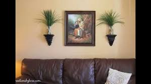 decorations ideas for living room. Living Room Wall Decoration Ideas Brown Leather Sofa Elegant And Paint With Plants Combined Decorate Stylish Decorations For
