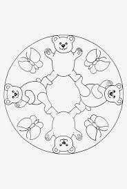 Mandalas Kleurplaten Mandala Kinderen Beren