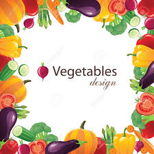Vegetable Border Design Vegetables Frame For Your Designs