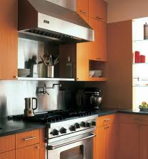 view in gallery modern kitchen with stainless steel hood