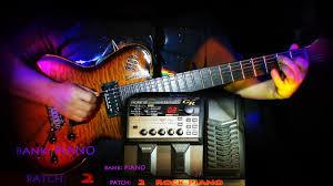 Экземпляры звуков <b>гитарного</b> синтезатора <b>Roland</b> GR-20 Банк ...