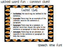 Types Of Context Clues Chart Context Clues