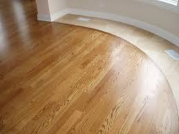 image of tile and wood floor combination curved shape