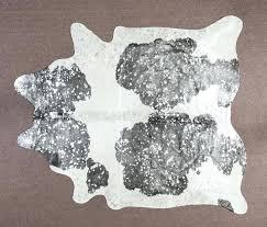 idea silver metallic rug and metallic silver black white cowhide rug 39 silver and gold metallic