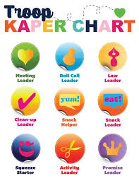Girl Scout Daisy Kaper Chart Printable Custom Troop Kaper Chart Strawjenberry