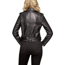 tap tap to zoom starburst leather jacket by sam edelman