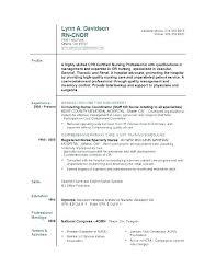Sample Nursing Resumes Graduate Nurse Resume Template Free Sample ...