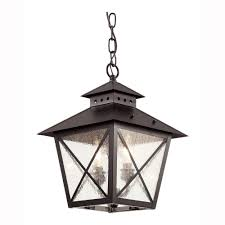 Home Decorators Collection Wilkerson Light Black Outdoor Chain - Exterior hanging light