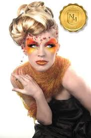 artist making a bright makeup for laura kirkpatrick from cycle 13 of americas next top model