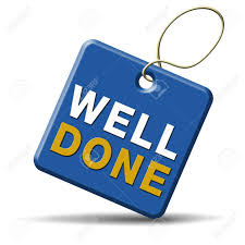 Well Done And Excellent Job Or Successful Work Congratulations