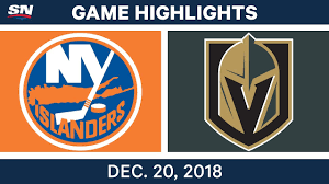 NHL Highlights | Islanders vs. Golden Knights - Dec 20, 2018 ...
