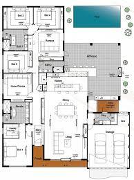 Floor Plan Friday: 4 bedroom, 3 bathroom with modern skillion roof -  Katrina Chambers