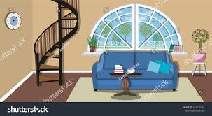 stylish furniture for living room. Modern Cozy Living Room Interior Design With Stairs To The Second Floor. Stylish Furniture - For M