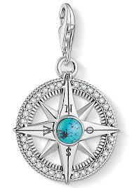 Thomas Sabo Charm Einhänger Kompass Türkis 1773 646 17