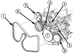solved i need a serpentine belt diagram for chrystler fixya 2 answers