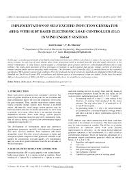 implementation of self excited induction generator ijret international journal of research in engineering and technology eissn 2319 1163