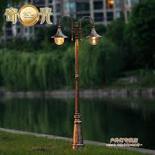 vintage garden outdoor lights fixture led pole light path tall column waterproof lighting fitting aluminum in