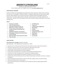 Beginner Resume Template Simple JEREMY R STRICKLAND PARTS DEPARTMENT RESUME