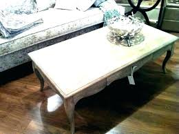 distressed round coffee table distressed round