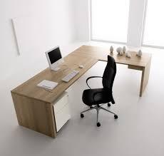 modern minimalist office computer. Simple Office Desk Design With L Shape Freestanding Oak Beige Sleeky Computer Plus White Base Cabinet And Black Leather Wheeled Modern Minimalist S