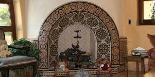 moroccan tiles fireplace 1