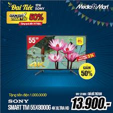 🔥Smart Tivi Sony 55 inch 55X8000G, 4K... - Mediamart Lê Đức Thọ