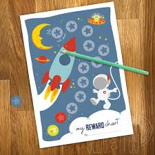 Printable Space Kids Reward Chart With Reward Stickers