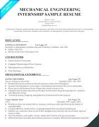 Summer Internship Cv Template Resume For Internships College