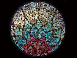 stained glass mosaic 10 diameter
