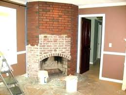 refacing a brick fireplace with stone veneer fireplace refinish refinish brick fireplace refinishing brick fireplace cost