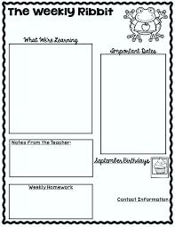 September School Newsletter Template Pictures Class Elementary