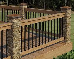 Beautiful Deck Railing Ideas Stone Metal And Wood O On Design