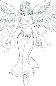 Angel Coloring Pages For Adults Angel Coloring Book Plus Pin By E On