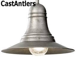 industrial light pendant antique pewter