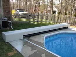ellis pool covers inc aluminum bench kit on a cement deck vinyl liner pool