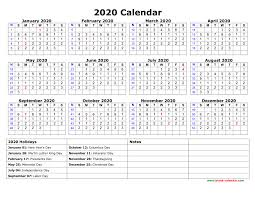 Printable Calendars 2020 With Holidays Free Download Printable Calendar 2020 With Us Federal