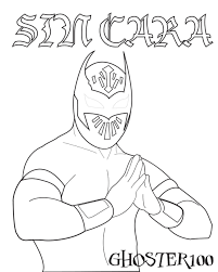 Small Picture Get This Printable wwe coloring pages sin cara 31906